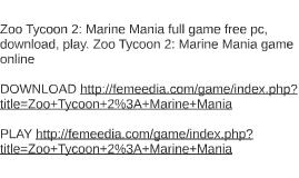 zoo tycoon 2 marine mania mac torrent
