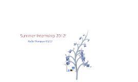 Summer Internship 2012