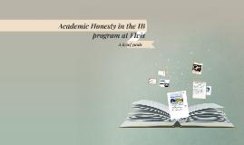 Academic Honesty in the Ib program at Elvis