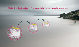 Understanding the effects of human activity on the natural e