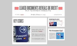 LEAKED DOCUMENTS REVEALS UK BREXIT