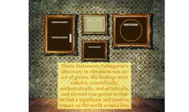 Thesis statement on pythagoras