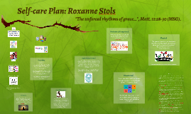 Copy of Self-care Plan: Roxanne Stols