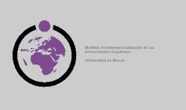 Modelo de Internacionalización de la Universidad de Murcia