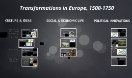 Transformation in Europe, 1500-1750 (Ch. 16)