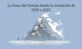 Copy of  La línea del tiempo desde la evolución de 1950 a 2015