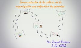 Temas actuales de la cultura de la organización que enfrenta