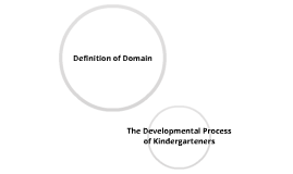The Developmental Process of Kindergarteners