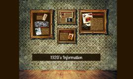 1920's Information
