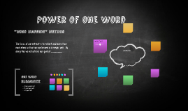 Power of one Word