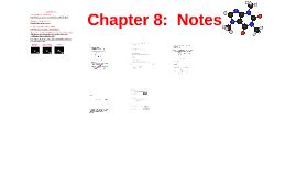 Chapter 8:  Notes
