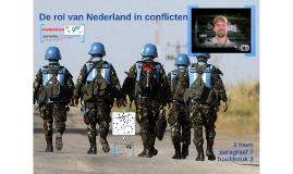 3H H3 P7 De rol van Nederland in conflicten