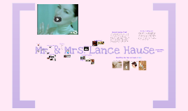 Mr. & Mrs. Lance Hause