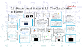 2.1: Properties of Matter & 2.2 : The Classification of Matt