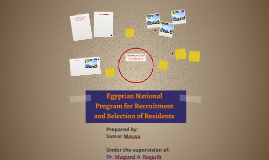 Egyptian National Program for Recruitment and Selection of R