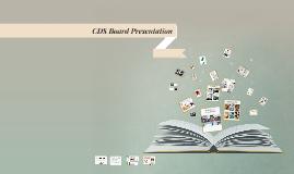 CDS Board Presentation