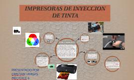 IMPRESORAS DE INYECCION DE TINTA