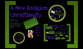 A New Religion:  Christianity