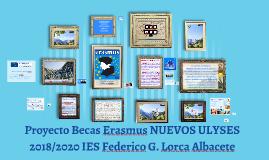 Proyecto Becas Erasmus NUEVOS ULYSES 2018/2020