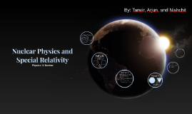 Nuclear Physics and Special Relativity