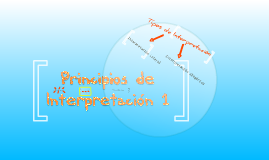 Principios de Interpretación 1