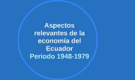 Aspectos relevantes de la economía