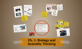 Chapter 1: Biology and Scientific Thinking