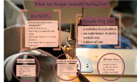 What people actually pay for