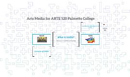 Arts Media for ARTE 520 Palmetto College