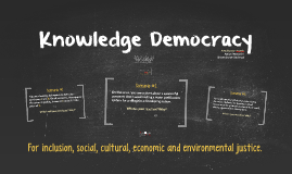 Knowledge Democracy