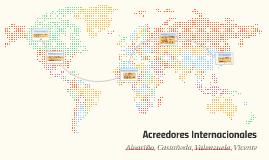 Acreedores Internacionales