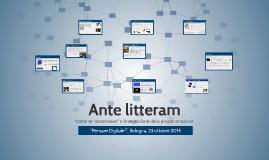 Copy of Ante Litteram