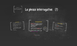 Les phrases interrogatives