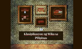 Klasipikasyon ng Wika sa Pilipinas