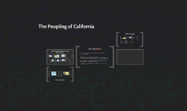The Peopling of California
