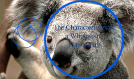 The Characteristics of a Wholesome Personality