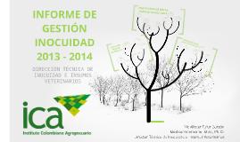 INFORME DE GESTIÓN INOCUIDAD 2013-2014
