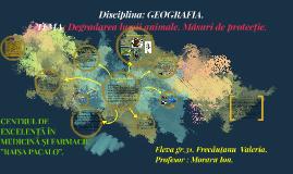 Copy of Degradarea lumii animale. Măsuri de protecție