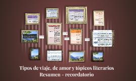 Copy of Tipos de viaje, de amor y tópicos literarios