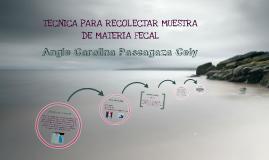 Copy of Técnica para recolectar muestra de materia fecal