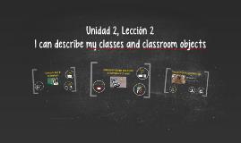 Unidad 2, Lección 2