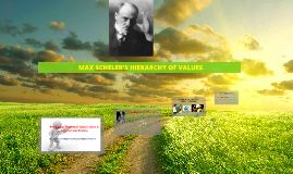 Copy of MAX SCHELER'S HIERARCHY OF VALUES