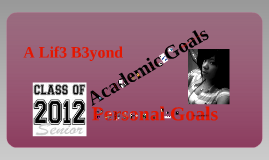 Copy of Personal Goals