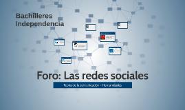 Foro: Las redes sociales