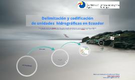 Delimitacion y Codificacion UH Pfafstetter