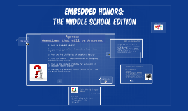 Copy of Embedded Honors
