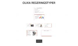 OLIKA REGERINGSTYPER