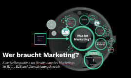 Wer braucht Marketing?