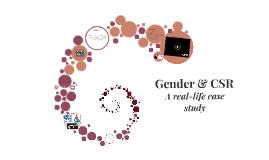 Gender & Corporate Social Responsibility