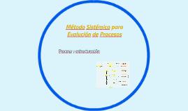 Método Sistémico para Evaluación de Procesos
